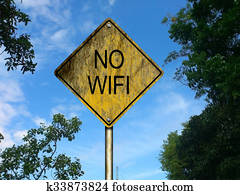 No Wifi Road Sign