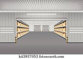 Warehouse Vector Background