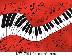 abstrakt, klavier
