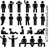 Man Basic Posture People Icon Sign