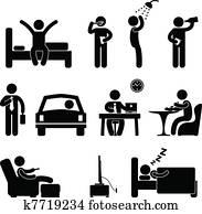 mann, dienstbetrieb, leute, symbol, zeichen