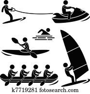 Water Sea Sport Skurfing Rafting