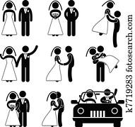 Wedding Bride Bridegroom Marriage