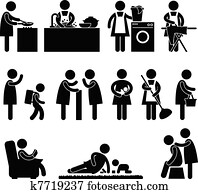 Woman Wife Mother Daily Routine