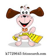 Cartoon dog puppy fat