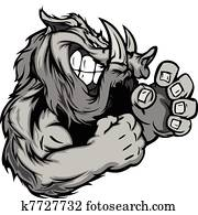 Graphic Vector Image of a Boar or W