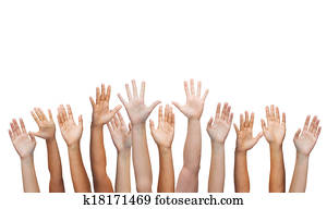 human hands waving hands