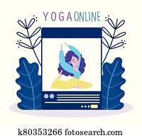 online yoga, website application training coaching session