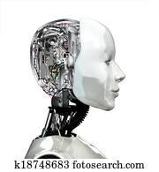 A robot woman head.