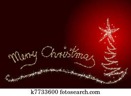 Weihnachtsbilder Merry Christmas.Xmas Card Merry Christmas Stock Illustration K7314698 Fotosearch