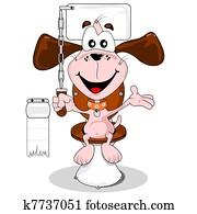 Cartoon dog house trained