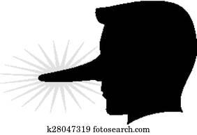 Cartone animato uomo con naso grande ondeggiare clipart