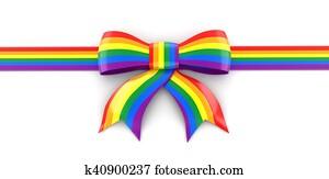Multi Colored Celebration Bow