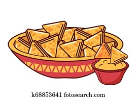 nachos cheese cream mexican food traditional