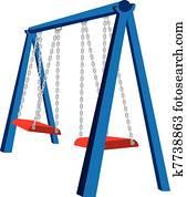 Playground Swing Illustration