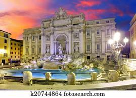 Roma - Trevi fountain, Italy