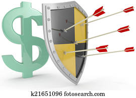 Shield protect safe US dollar money security
