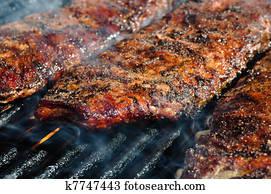 BBQ Ribs on Grill