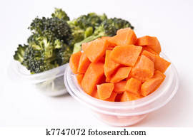 Vegetables in Plastic Container