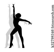 dancer silhouette