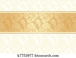 Flower background with lace, seamle