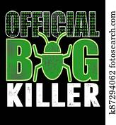 official bug killer graphic