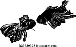 Uno carpa clipart kun0010 fotosearch for Carpa pesce rosso