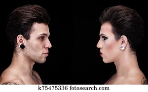 Portrait of a drag queen