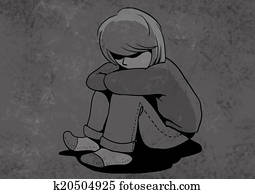 abused child, unhappy children