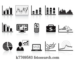 black business charts icon