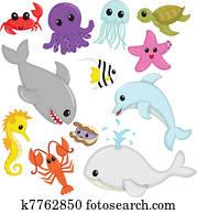 Marine wildlife animals