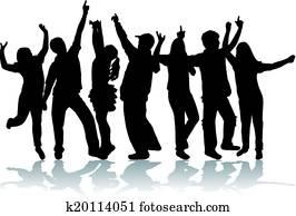 tanzen, personengruppe