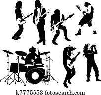 gestein, musiker