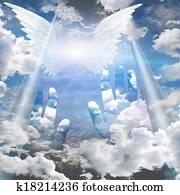Hands reach up toward heaven