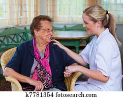 home care of old lady