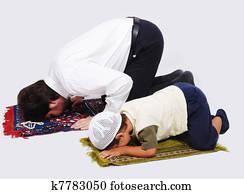 Muslim worship activities in Ramadan holy month