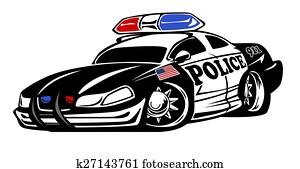 Police Car Cartoon Illustration