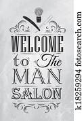 Poster Barbershop welcome coal
