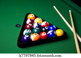 Billiard balls, pool