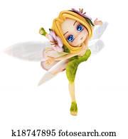 Cute toon ballerina fairy.