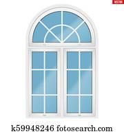 fenêtre en pvc avec arche