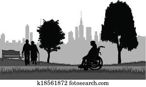 Seniors on a walk in the park