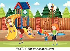 People at the playground
