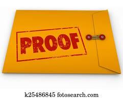 Proof Word Yellow Envelope Verification Evidence Testimony