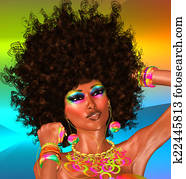 Afro, Beautiful Face, Woman
