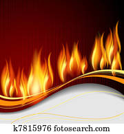 Background with flame