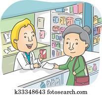 Senior Woman Pharmacy