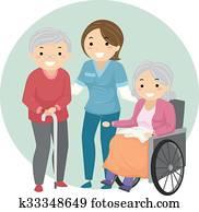 Stickman Seniors Caregiver
