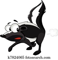 Cartoon Character Skunk