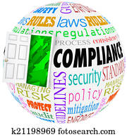 Compliance Words Sphere Rules Laws